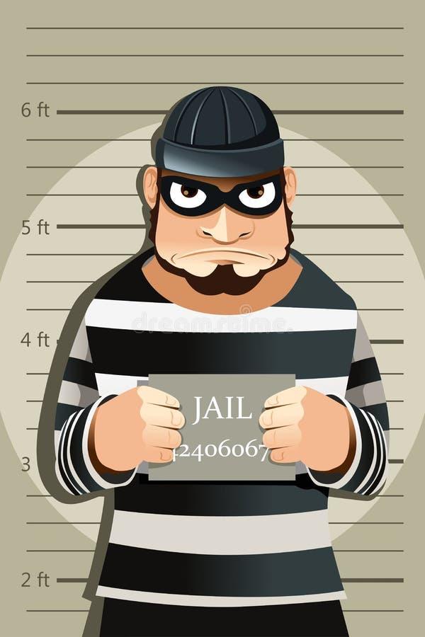 Criminal mug shot royalty free illustration