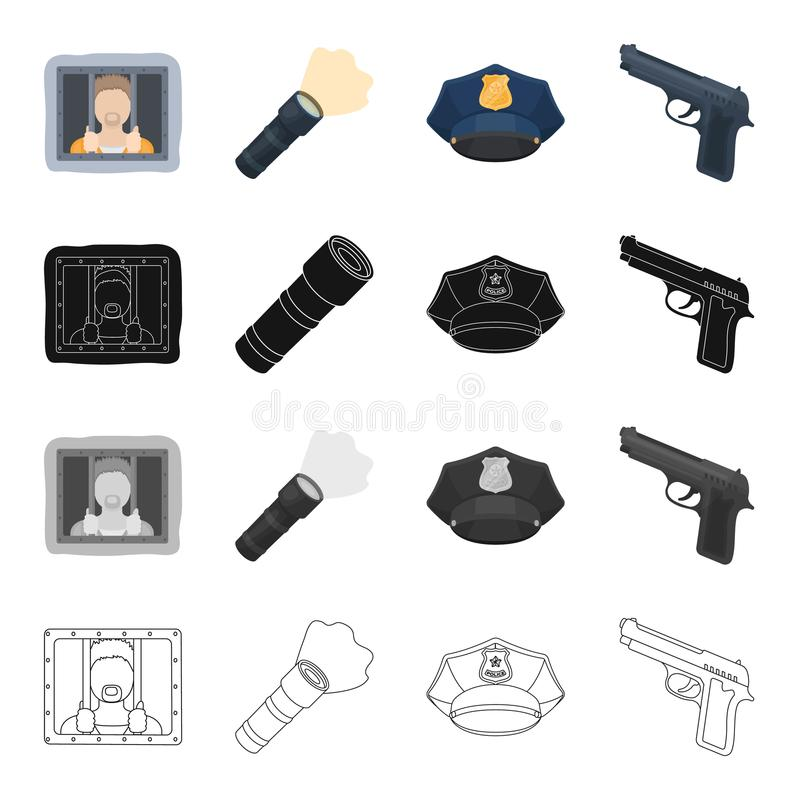 Prison criminal in uniform cartoon vector illustration for Uniform spa vector