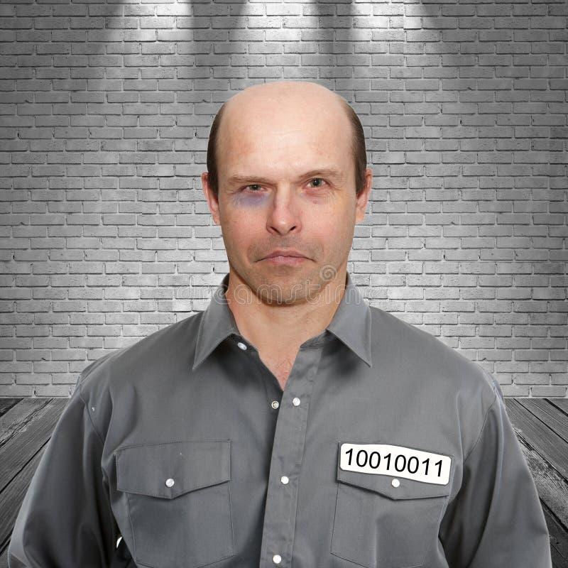 Criminal in prison stock images