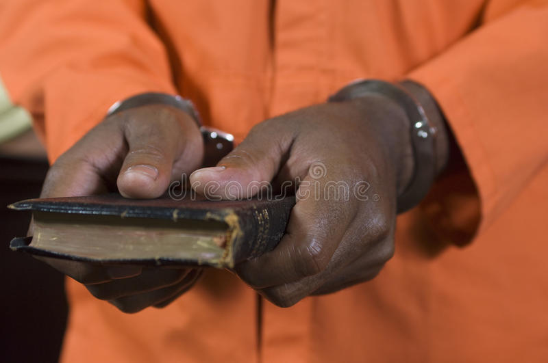 Criminal Taking Oath stock images