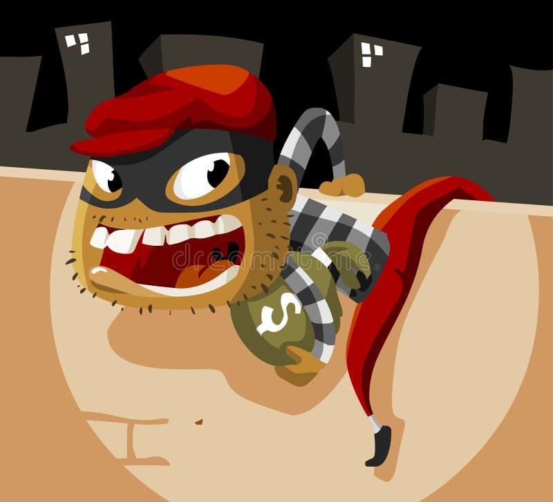 Criminal Thief Activity Royalty Free Stock Photos