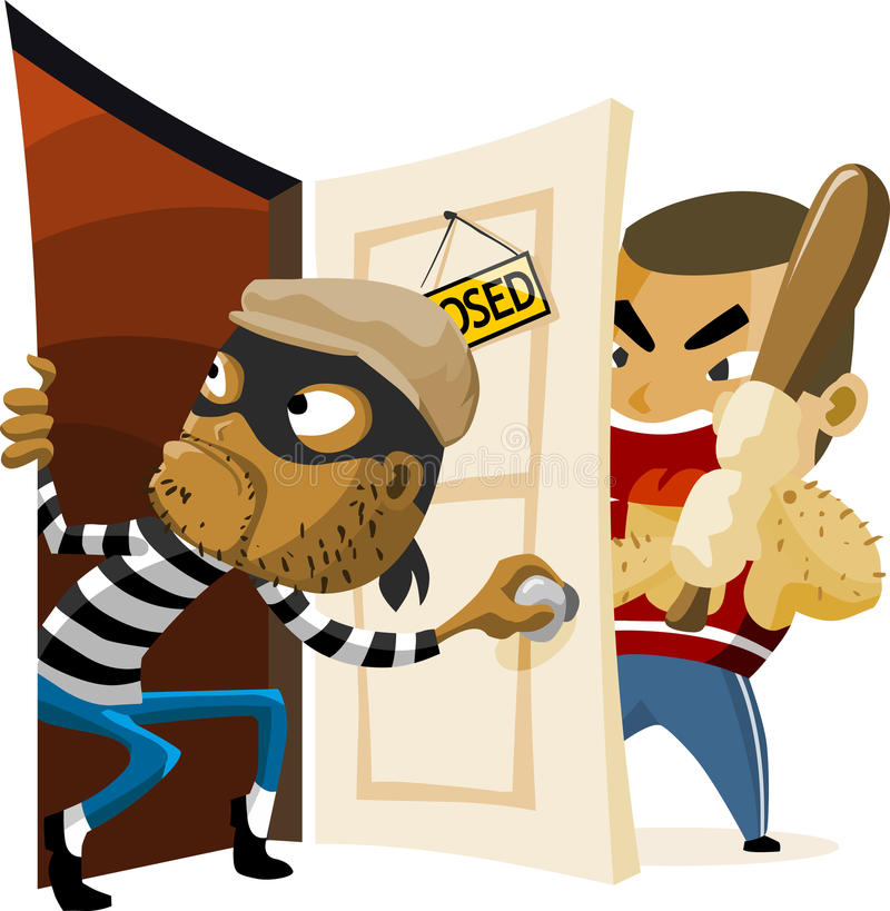 Download Criminal Thief Activity. stock illustration. Image of social - 12507806