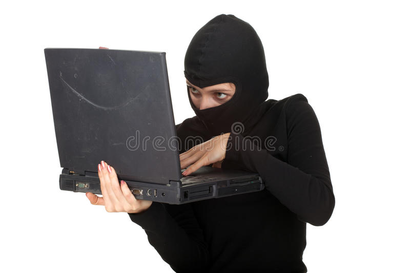 Download Criminal Woman With The Laptop Stock Image - Image: 19812971