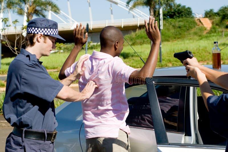 Criminale di arresto fotografie stock