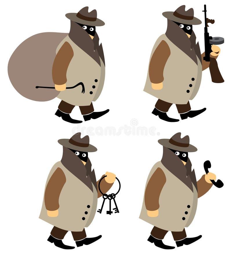 Criminali illustrazione di stock