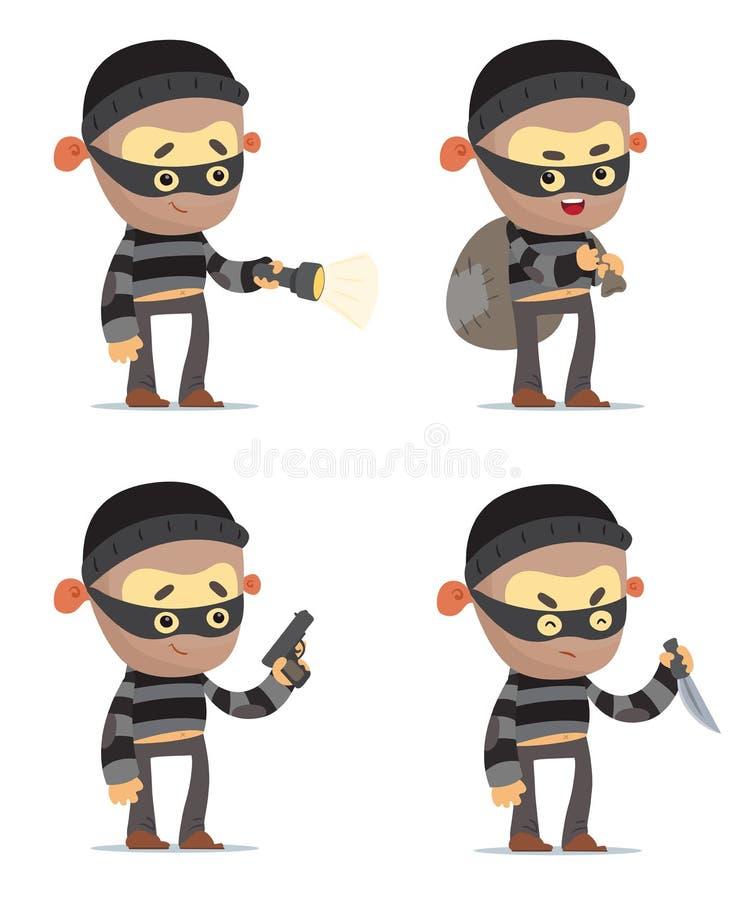 criminali illustrazione vettoriale