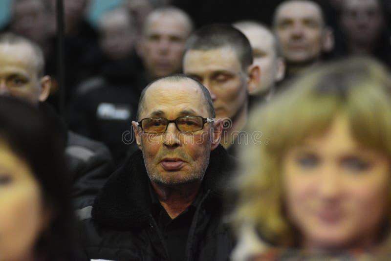 Criminali condannati in una prigione russa fotografie stock