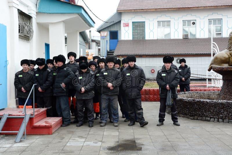 Criminali condannati in una prigione russa fotografia stock libera da diritti