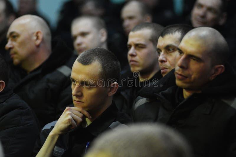 Criminali condannati in una prigione russa immagini stock