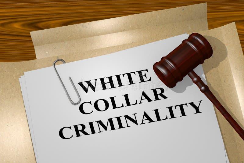 Criminalidad no manual - concepto legal ilustración del vector