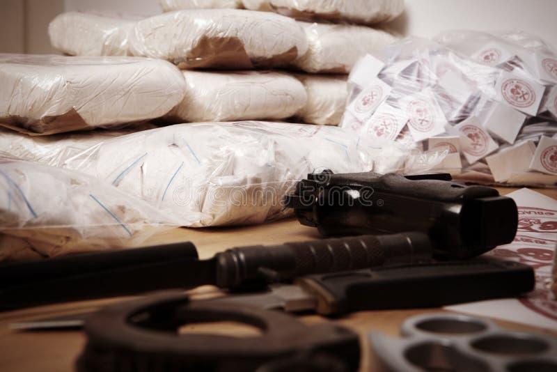 Criminalité de drogue photo libre de droits