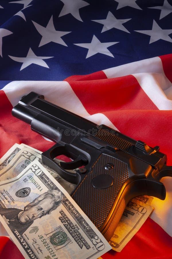Crimine di armi da fuoco americano fotografia stock libera da diritti