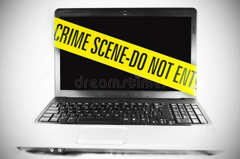 Crimine di calcolatore fotografie stock libere da diritti