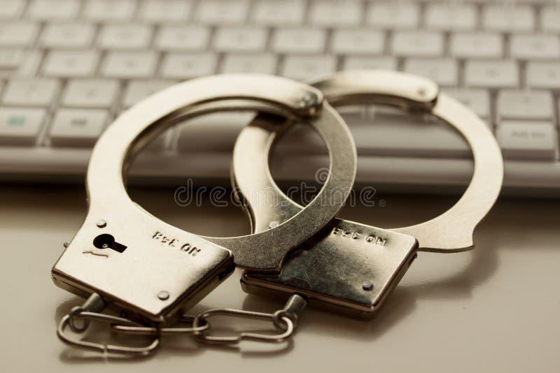 Crimine di Internet immagine stock