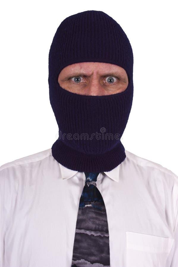 Crimine impiegatizio, ladro, criminale, mascherina fotografia stock libera da diritti