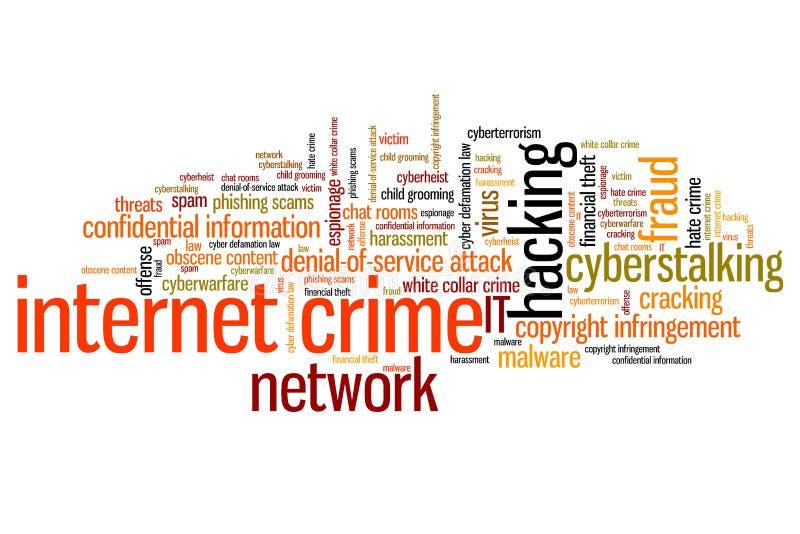 Crimine online royalty illustrazione gratis