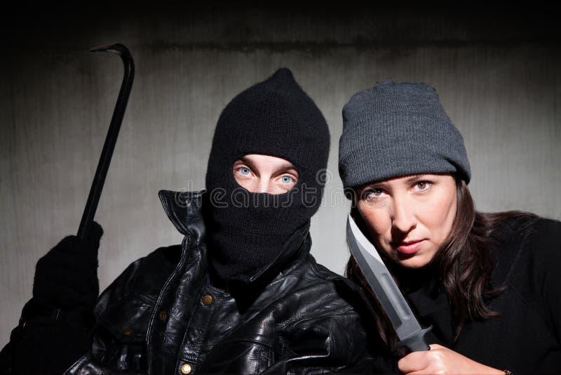 Criminels image libre de droits