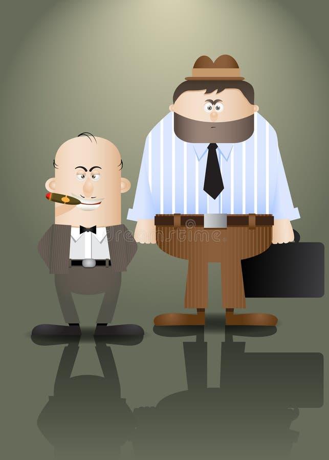 Criminels illustration de vecteur