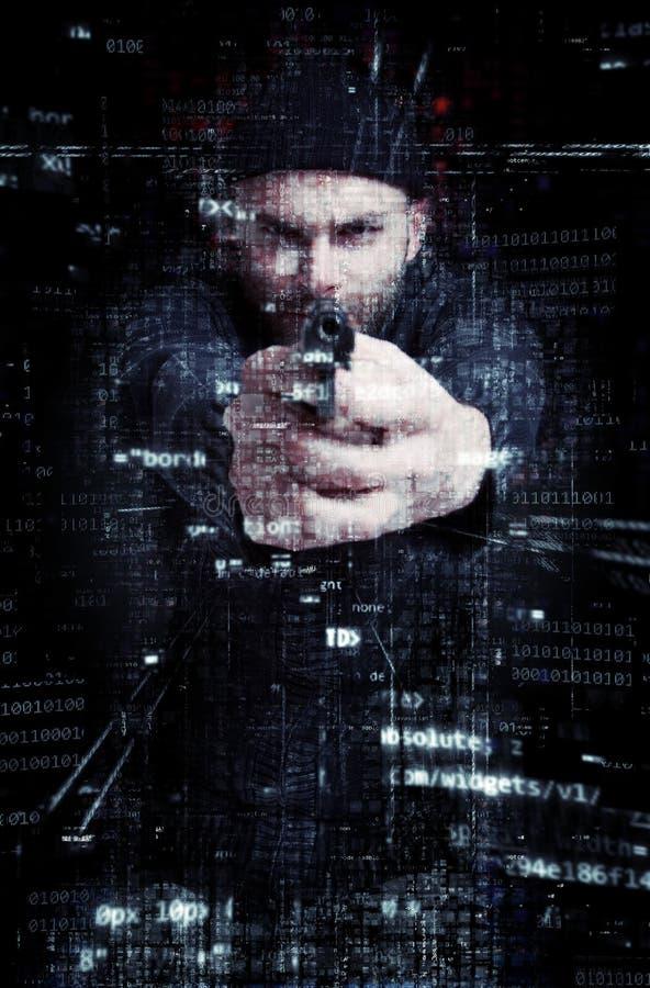 Criminoso do Cyber fotografia de stock