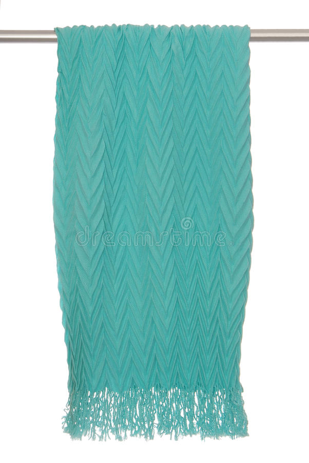 Crimping scarf hangs on bracket stock photo