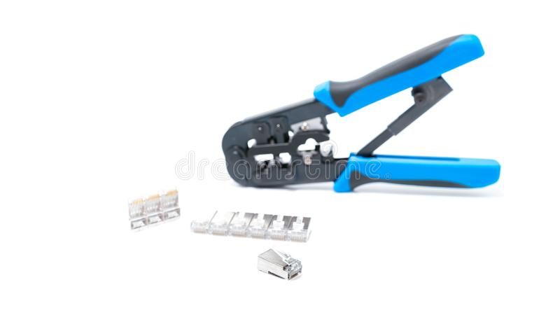 Crimping tool isolated on white background, stock photos