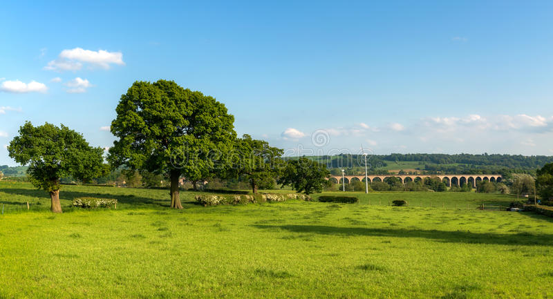 Crimple Valley - Harrogate, North Yorkshire, UK. The Crimple Valley Viaduct carries the Harrogate to Leeds railway line across Crimple Beck, and its Valley royalty free stock image