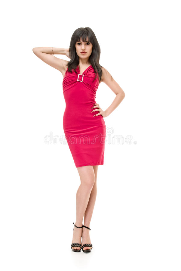 Crimson Dress Royalty Free Stock Image