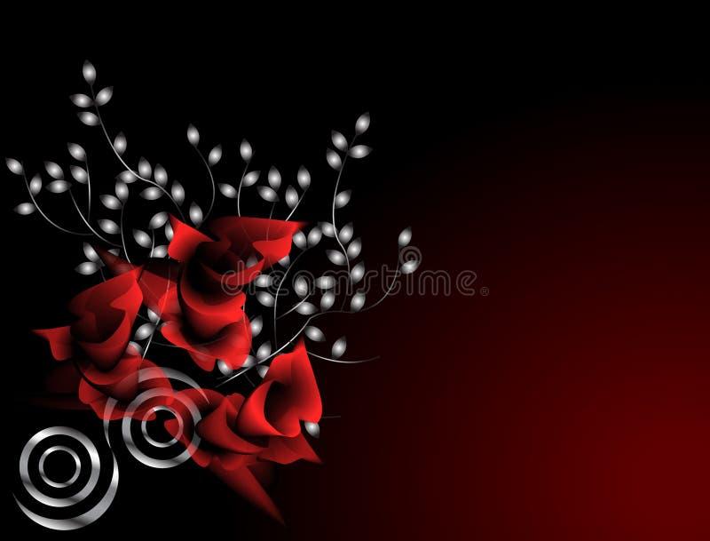 crimson ro royaltyfri illustrationer