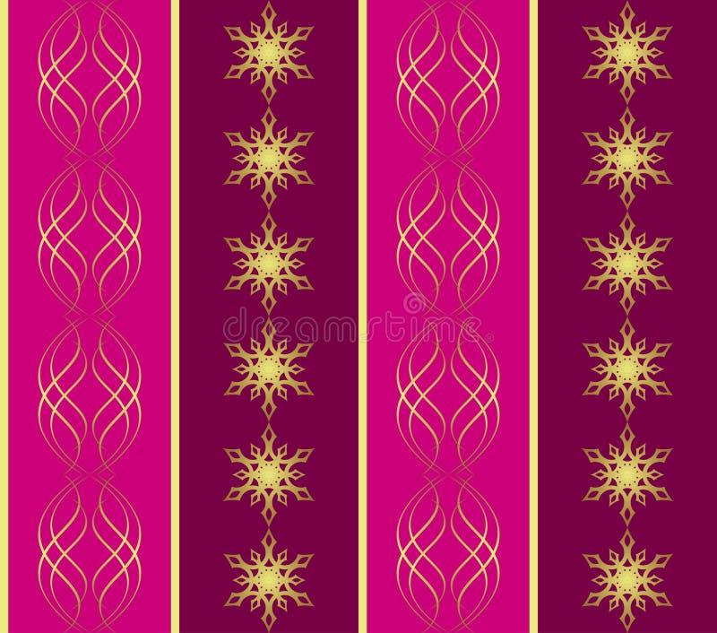 crimson seamless snowflakestexturvektor stock illustrationer