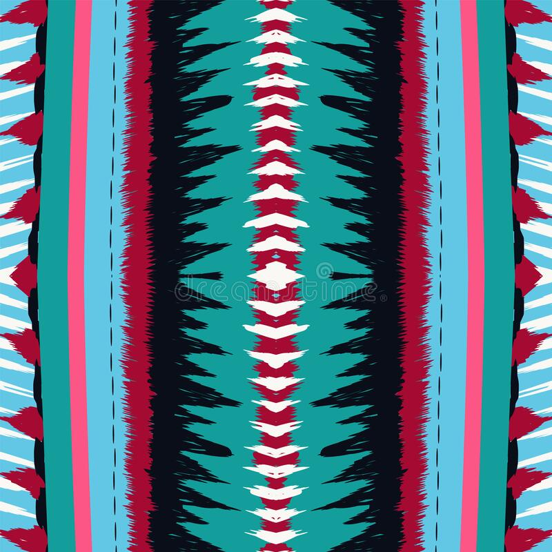 Crimson Tribal Vector Seamless Pattern Gloss royaltyfri illustrationer