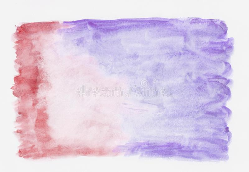 Crimson and violet mixed abstract watercolor background stock images