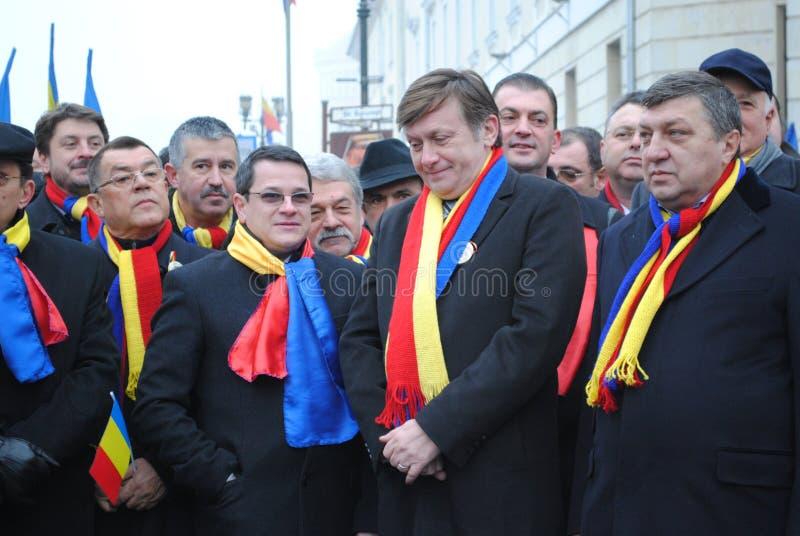 Crin Antonescu et amorces généreuses photo stock