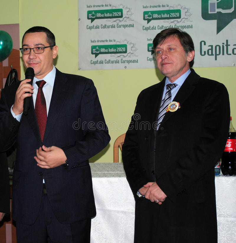 Victor Ponta and Crin Antonescu stock image