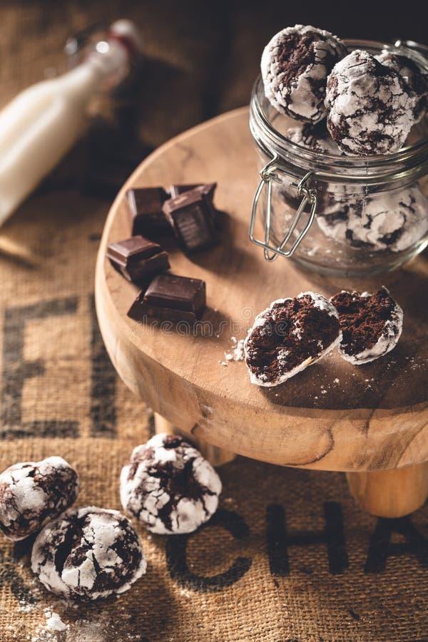 Crinkle шоколада для пасхи стоковые изображения