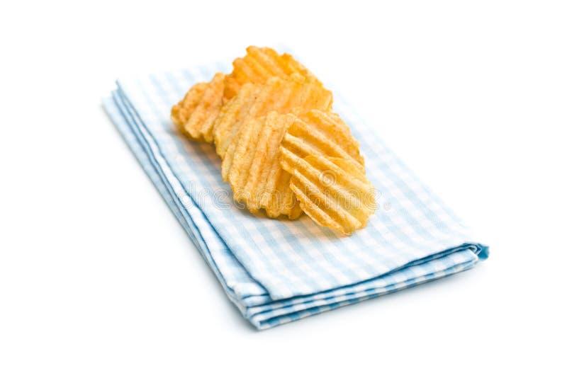 Crinkle cut potato chips. stock photography