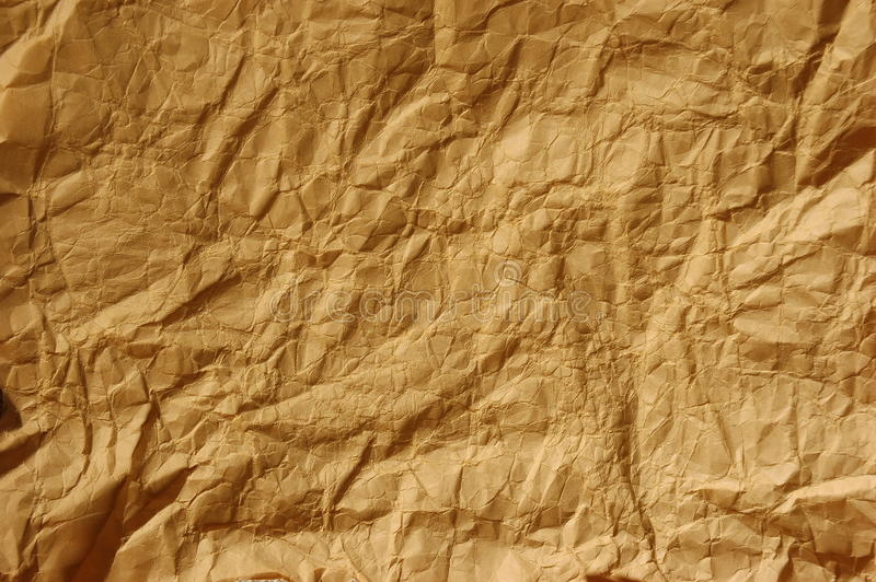 Download Crinkled brown paper stock image. Image of rough, crinkly - 17143111