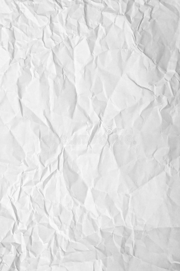 Crinkled paper. Crinkled sheet of white paper