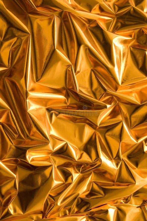 Crinkled złoto papier obrazy stock