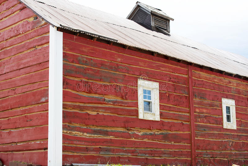 Cripple Creek Barn. A red barn near Cripple Creek, Colorado stock photo