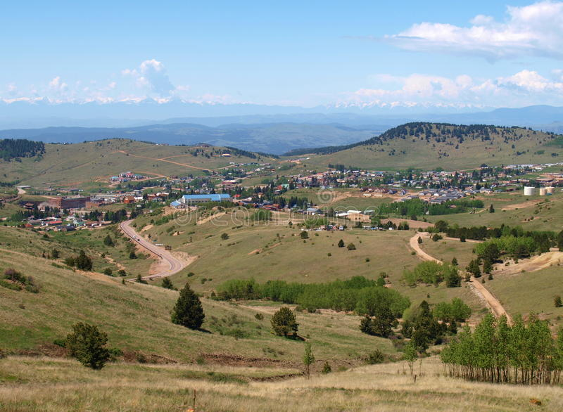 Cripple Creek, Colorado. The scenic mountain town of Cripple Creek, Colorado. Popular with tourists for the casinos, the main industry is the CC&V Gold Mine royalty free stock photos