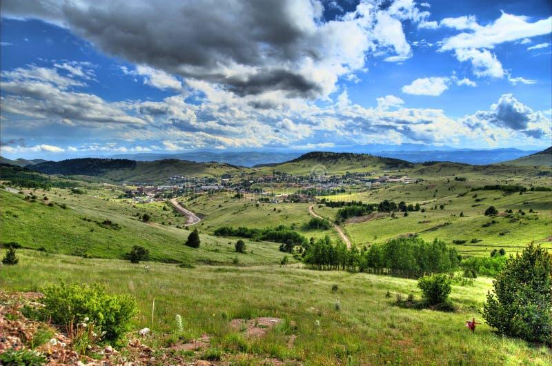 Cripple Creek HDR. Panoramic Photography. Cripple Creek Colorado USA stock photos
