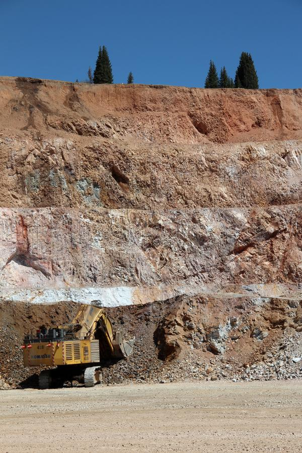 Cripple Creek & Victor Gold Mine. The Cripple Creek & Victor Gold Mine, formerly and historically the Cresson Mine, is an active gold mine located near the town royalty free stock photo