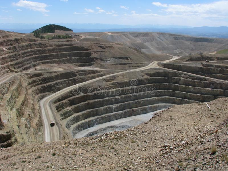 Cripple Creek & Victor Gold Mine. The Cripple Creek & Victor Gold Mine, formerly and historically the Cresson Mine, is an active gold mine located near the town royalty free stock images