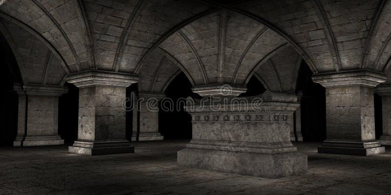 Cripta ilustração do vetor