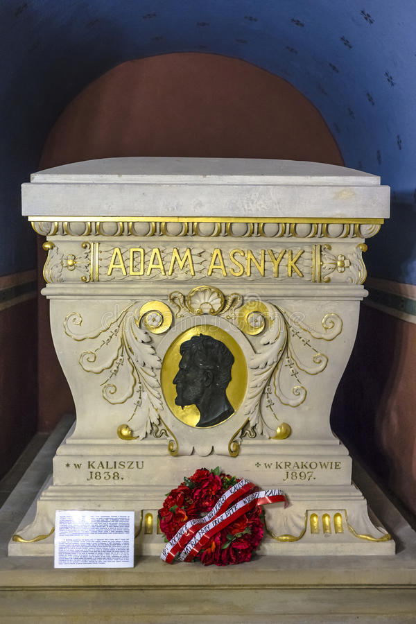 Cripta de Adam Asnyk fotos de archivo