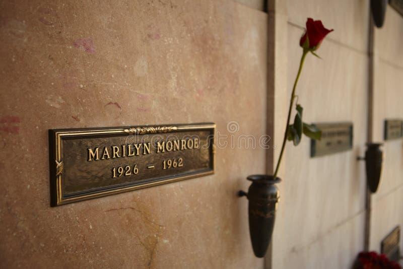 Cripta de Marilyn Monroe fotografía de archivo libre de regalías