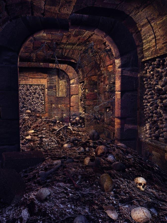 Cripta do crânio ilustração royalty free