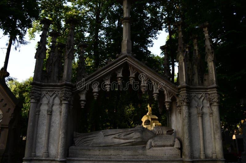 Cripta no museu do cemitério fotografia de stock
