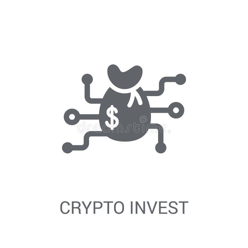 cripto invista o ícone Cripto na moda investe o conceito do logotipo em b branco ilustração stock