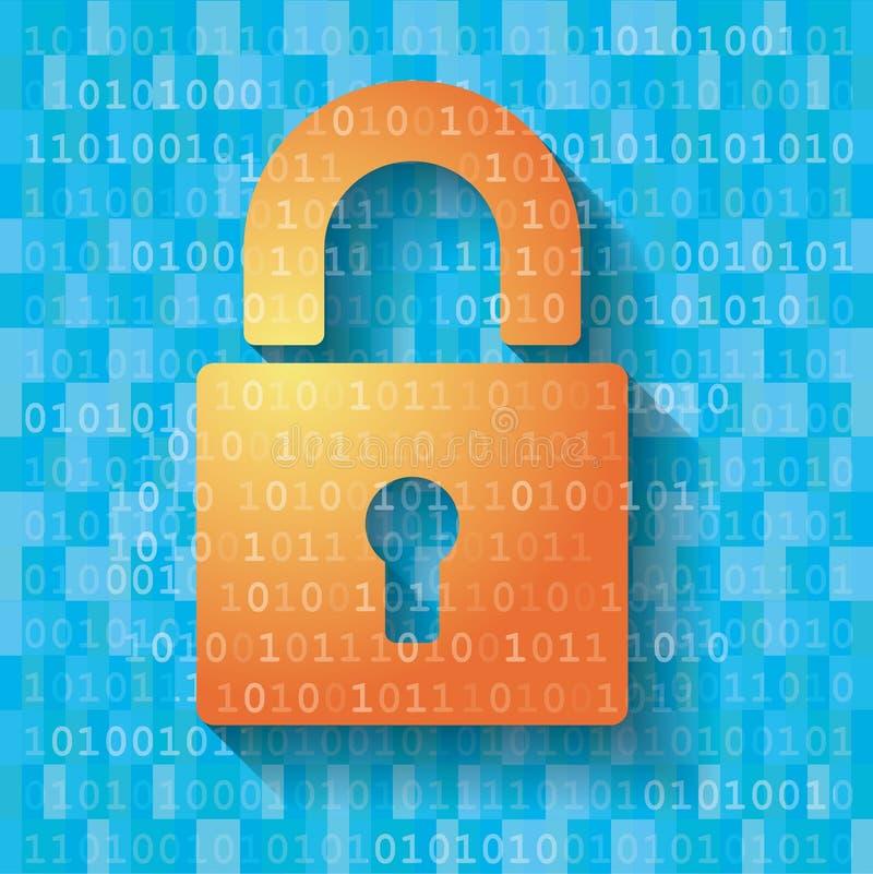Criptografia de dados do computador imagens de stock